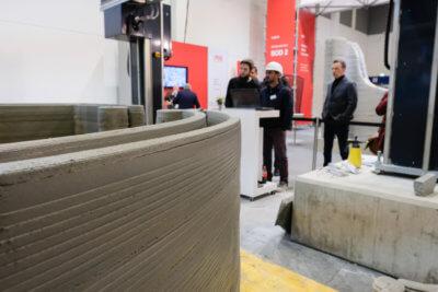 Wände werden auf der Bautech gedruckt