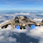 3D-Rendering von einem Kampfjet