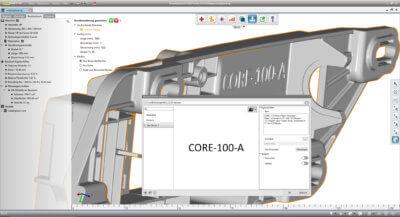 Screenshot Beschriftung in der Software