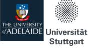 Logo Univ. Stuttgart und Univ. Adelaide
