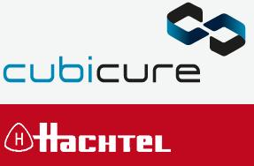 Cubicure und Hachtel Logos