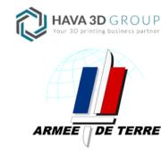 Logo Hava3D und französische Armee