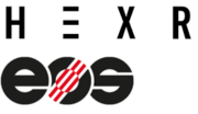 HEXR und EOS Logo