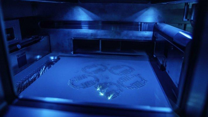Laser-Metal-Fusion-Verfahren Ansicht im 3D-Drucker