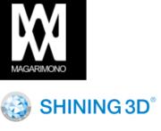 Logos MAGARIMONO und SHINING 3D Logo