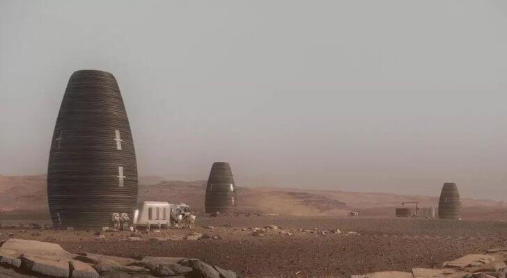 Haus auf dem Mars
