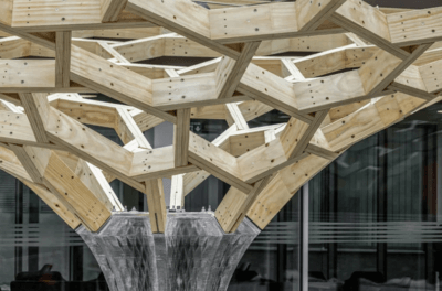 Nahaufnahme Future Tree Pavillion