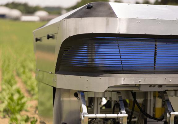 Teils 3D-gedruckter autonomer Unkrautroboter