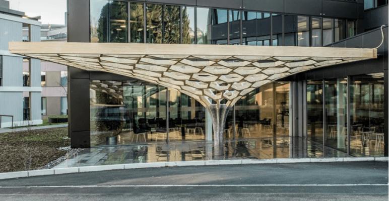 Seitenansicht Future Tree Pavillion