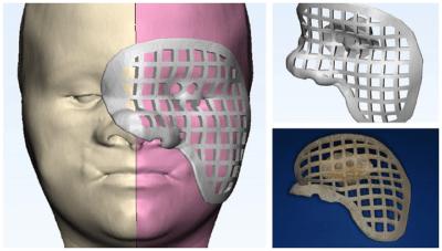 """3D-gedruckter """"Wegweiser"""" auf Modell"""