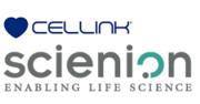 Cellink und Scienion Logo