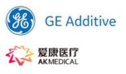 GE Additive und AK Medical Logos