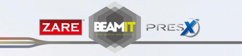 Logos Kooperation von ZARE, BEAMit und Pres-X