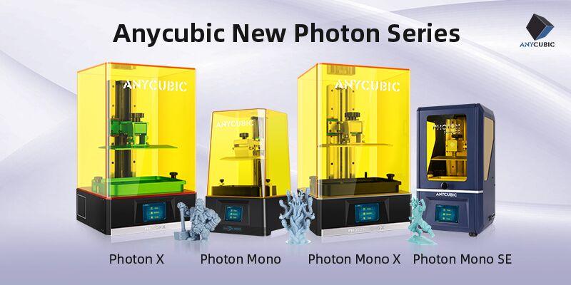 4 Modelle der 3D-Druckerserie Photon von Anycubic