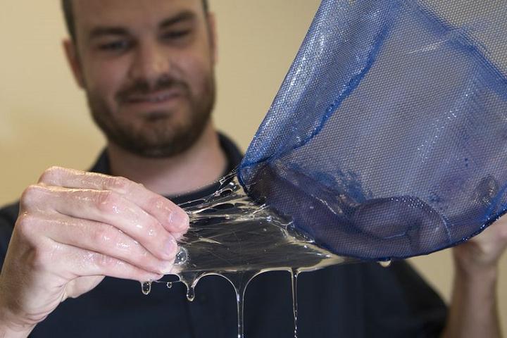 Forscher mit Hagfish-Schleim