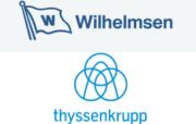 Wilhelmsen und thyssenkrupp Logos