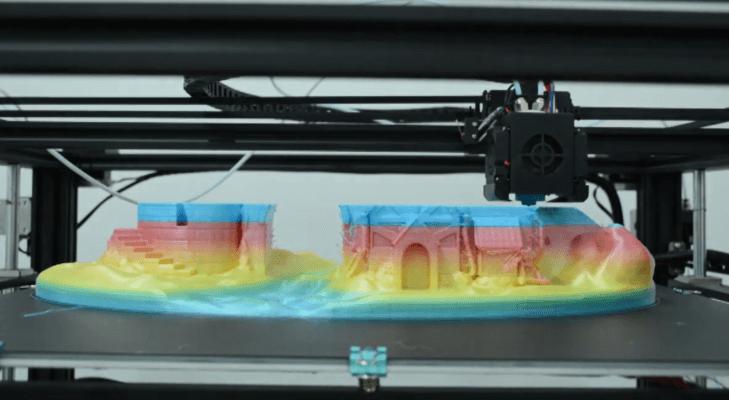 Mehrfarbiger 3D-Druck mit dem Tronxy X5ST-500-2E