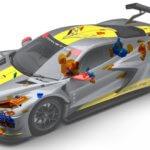 Corvette C8.R mit 3D-gedruckten Teilen
