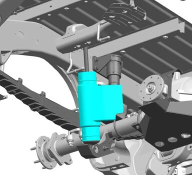 3D-gedrucktes Bauteil des Stoßdämpfers