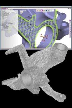 Interne und externe Gitterstrukten in einer 3D-Software