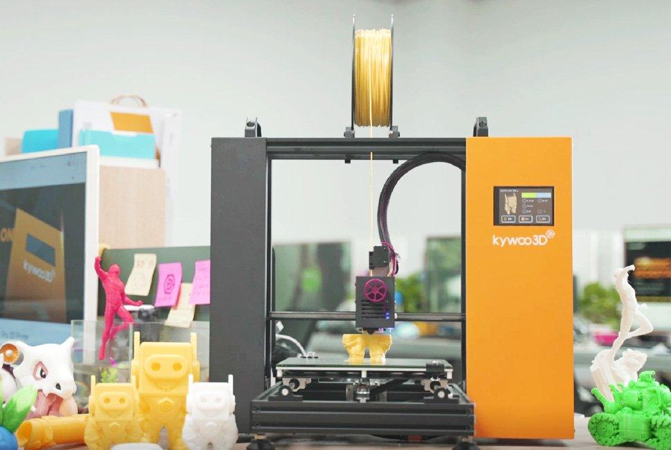 3D-Drucker Tycoon mit 3D-Druckobjekten