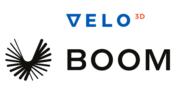 Velo3D und Boom Supersonic Logo