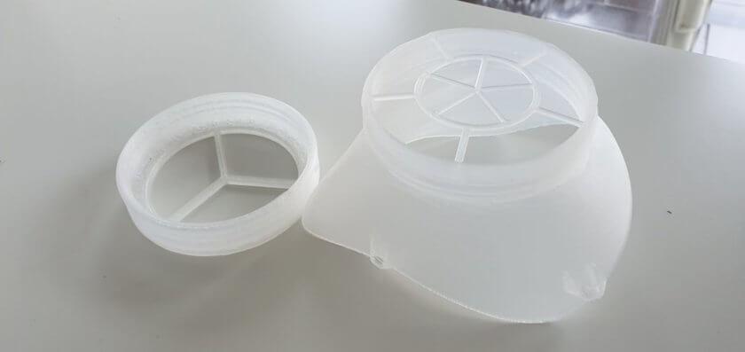 3D-gedruckte wiederverwendbare Masken