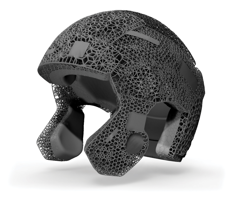 3D-gedruckte Helm-Elemente