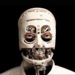 Kopf der Roboter-Büste