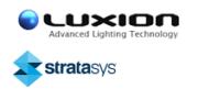 Luxion und Stratasys Logos