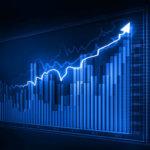 Visualisierung für positive Marktentwicklung