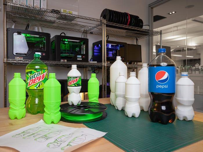 3D-gedruckte Prototypen und neue Flaschen bei PepsiCo