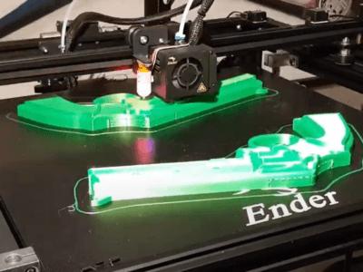 Gummiband-Pistole Einzelteile auf dem Ender 5 plus 3D-Drucker