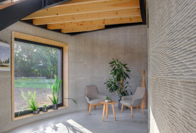 3D-gedrucktes Haus Westerlo, Innenansicht