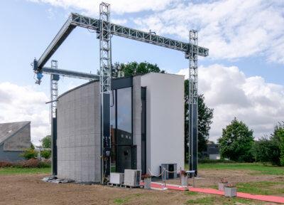 3D-gedrucktes Haus Westerlo mit COBOD 3D-Drucker