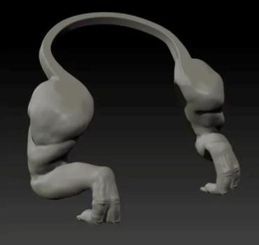 3D-Modell der Arme