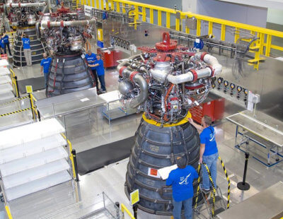 3D-gedrucktes RS-25 Raketentriebwerk