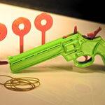 Einzelteile der Gummiband-Pistole