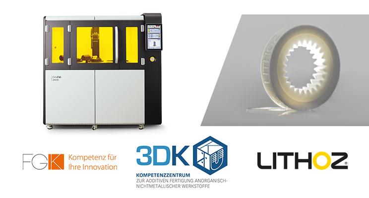 3D-Drucker, Unternehmenslogos und Druckobjekt