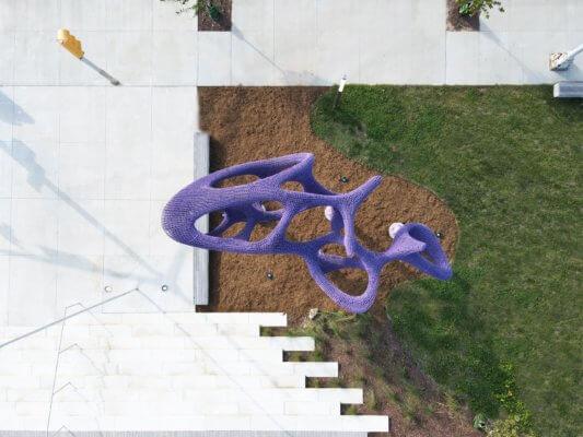 Purple STEAM Pavillon von oben