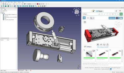 Screenshot 3DfindIT in FreeCAD