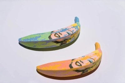Bananen aus Zucker mit Marylin Monroe Aufdruck