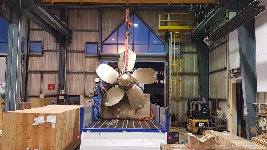 3D-gedruckter Propeller der Naval Group