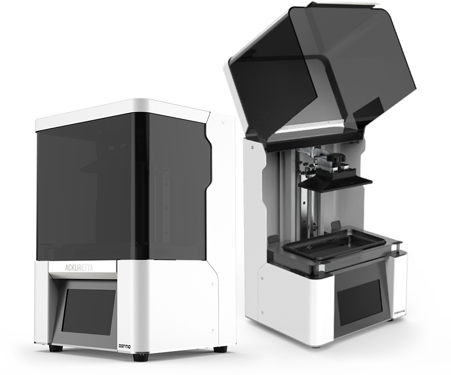 3D-Drucker DENTIQ zu und offen