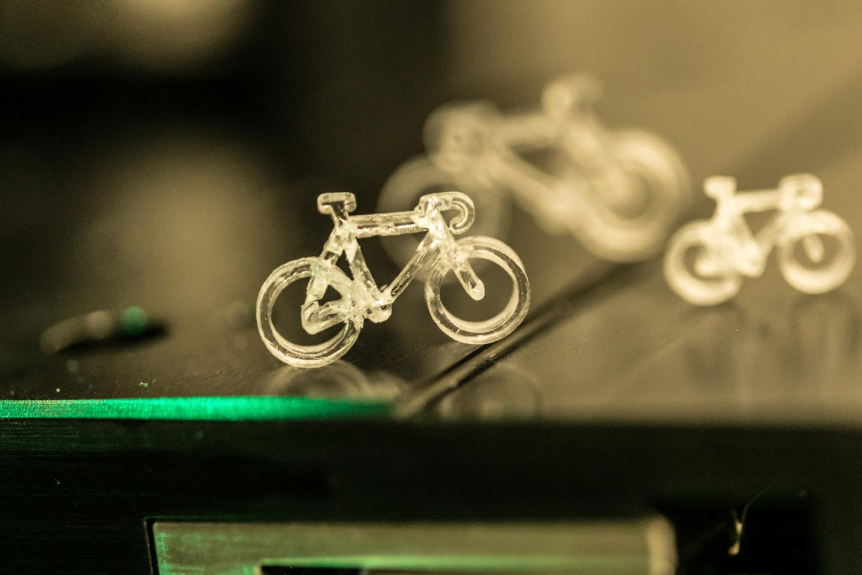 3D-gedrucktes Fahrrad aus Glas