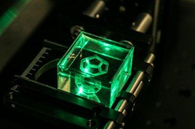 3D-gedrucktes Glasobjekt