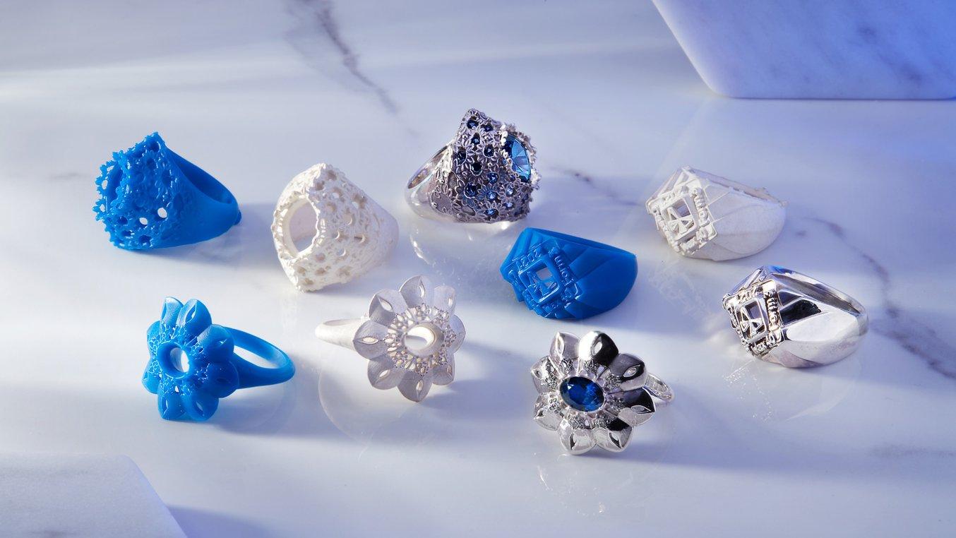 3D-Druck-Objekte aus Castable Wax 40 Resin