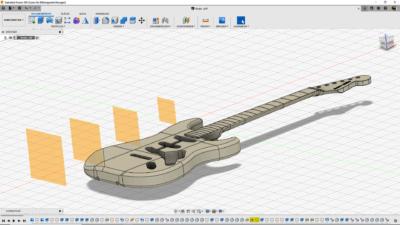 CAD-Modell der E-Gitarre
