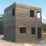 Zweistöckiges Haus aus dem 3D-Drucker
