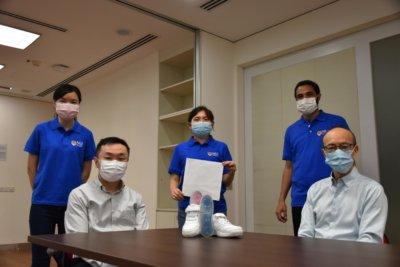 Das NUS Forscherteam mit seiner Entwicklung